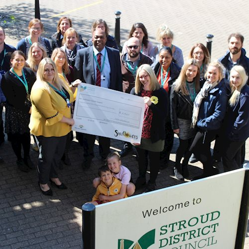 `Incredible' – the Stroud District Council staff who have raised thousands for suicide charity image