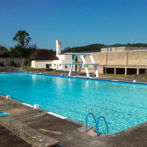 Spring-fed open air pool ready for Summer swimmers image