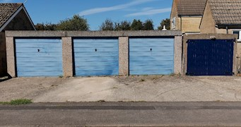 3 garages adjacent to 19 Windyridge, Bisley