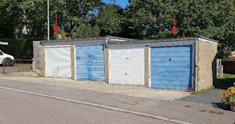 Two garages and land adj to 27 Ashwell
