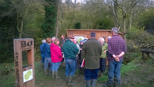 Members of the Stroud Flood Action Groups visiting work in the Slad Valley