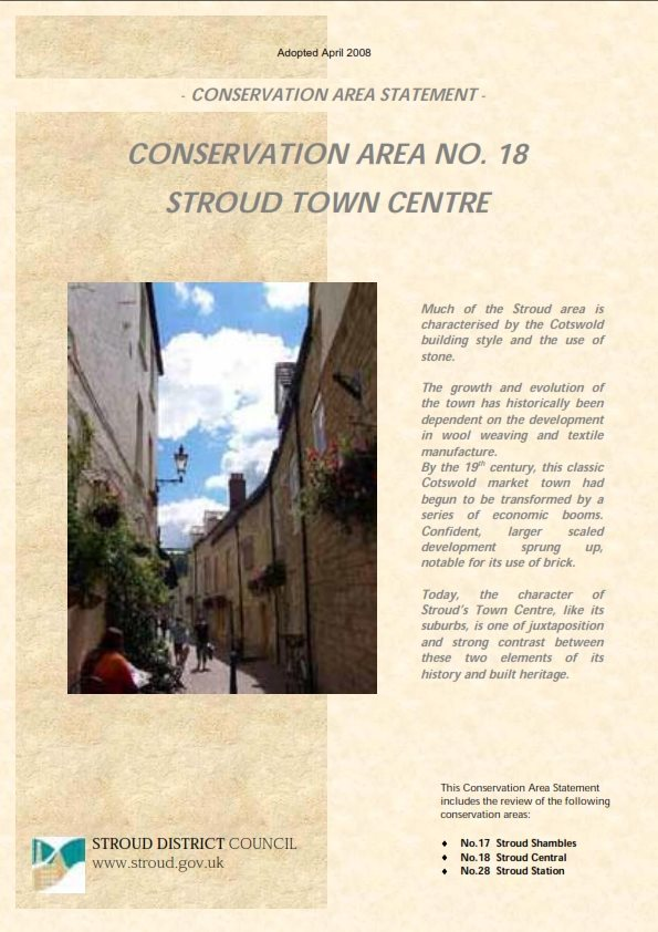Conservation Areas No.17 and No.18 - Stroud Town Centre
