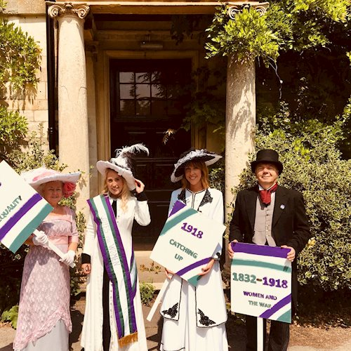 Big response to National Democracy Week garden party celebration of equal votes for women and men image